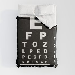 Inverted Eye Test Chart Comforters