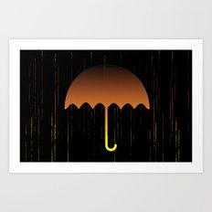 Golden Rain Art Print