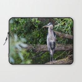 Heron waiting Laptop Sleeve