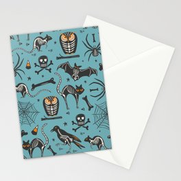 Halloween X-Ray Blue Stationery Cards