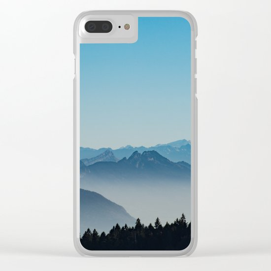 Blue Valley #mountains II Clear iPhone Case
