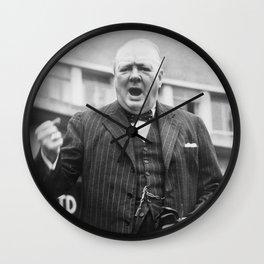 Winston Churchill Campaigning - 1945 Wall Clock