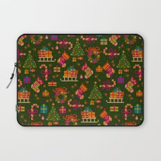 christmas x stitch pattern for the holiday mood Laptop Sleeve