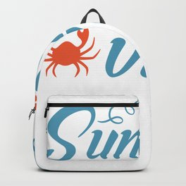 Summer Vibes Crab Backpack