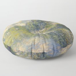 "Claude Monet ""Poplars on the Epte"" Floor Pillow"