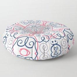 Girly Mandala Floor Pillow