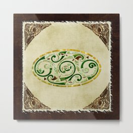 Celtic Old Traditional Tapestry Metal Print