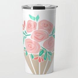 Roses in a vase rose Travel Mug