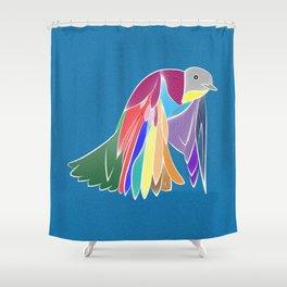 Bird - Blue Shower Curtain