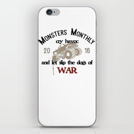 Monsters Monthly Cry Havoc iPhone Skin