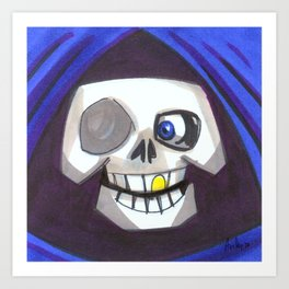 Mood Monster-grim reaper Art Print