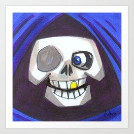 Mood Monster-grim reaper Art Print