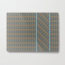 Ice Blue Diamonds and Stone Columns Metal Print