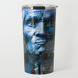 Ghost Tribe Native Americans in New York Blue Travel Mug