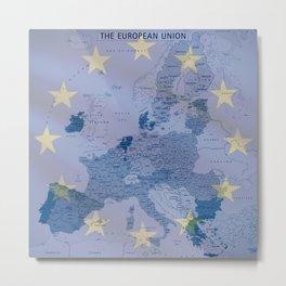 Map of EU Metal Print