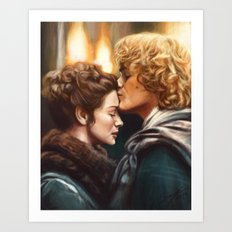 Jamie & Claire Art Print