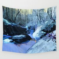 fairies Wall Tapestries featuring Where Fairies Live  by Whimsy Romance & Fun