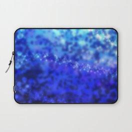 Blue Ocean Wave Galaxy Design Print Laptop Sleeve