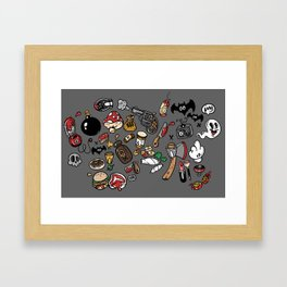 Old Skool Flash Framed Art Print