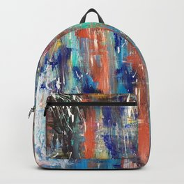 Abstract Art Multicolor Lake with Trees Backpack