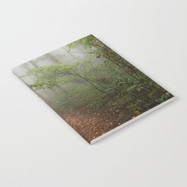 Adventure Ahead - Foggy Forest Digital Nature Photography Notebook