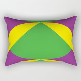 Of course those are Green Beans coming out from Yellow Shells. Happening in a Purple River. Rectangular Pillow