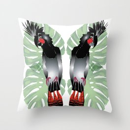 Australian Black Cockatoo Throw Pillow