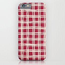 Abstract geometric retro pattern iPhone Case
