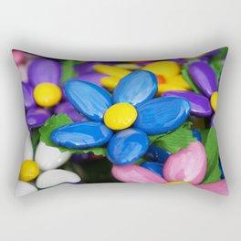 Colored sugared almonds as petals Rectangular Pillow