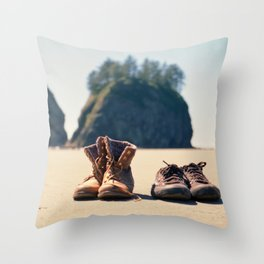 Dirty Shoes Happy Soles Throw Pillow