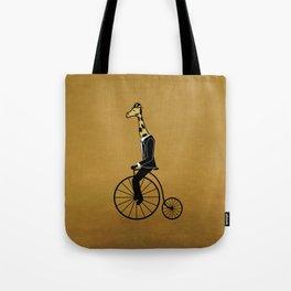 Penny Farthing Giraffe Tote Bag