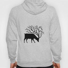 Deer With Tree Antlers Mascot Hoody