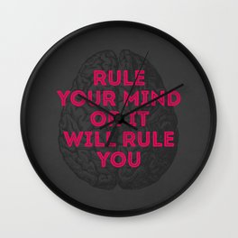 Rule Your Mind Wall Clock