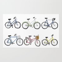 bicycles Area & Throw Rugs featuring Bicycles by Bianca_CS