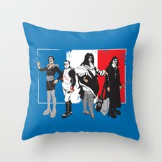 French Kissers Throw Pillow