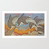dolphins Art Prints featuring Dolphins!  by pnutbutterangeli