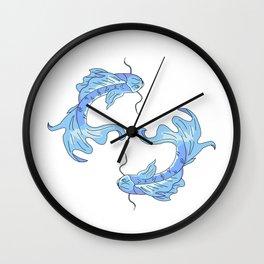 Two koi fish Wall Clock
