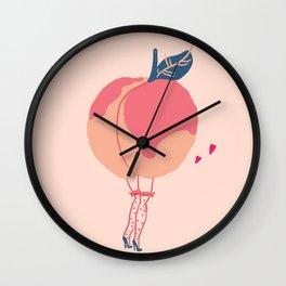 sexy peach Wall Clock