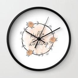 Hello my Darling Wall Clock