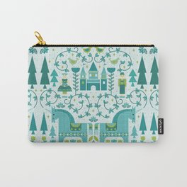 Fairytale Illustration in Blue Carry-All Pouch