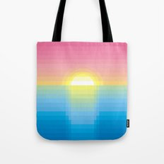 Sunset ~ strips Tote Bag