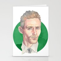 tom hiddleston Stationery Cards featuring Hiddleston by Megan Diño