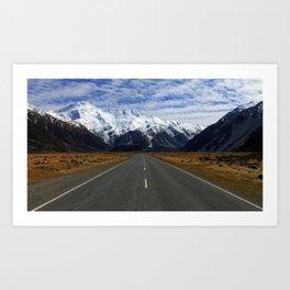 Aoraki Mountain Cook National Park Canterbury New Zealand Ultra HD Art Print
