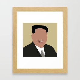 FOGS's People wallpaper collection NO:02 KIM JONG UN Framed Art Print