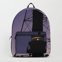 Sanibel Island Lighthouse Sunset Backpack