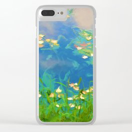 Autumn leaves on water 1 Clear iPhone Case