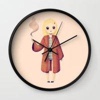 tenenbaums Wall Clocks featuring Margot by Nan Lawson