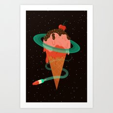 Ice Cream Planet Art Print