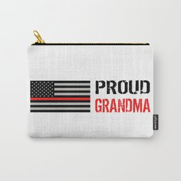 Firefighter: Proud Grandma (Thin Red Line) Carry-All Pouch