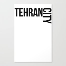 Tehran city Canvas Print